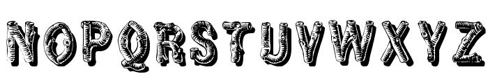 RusticBlackShadow Font UPPERCASE