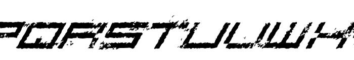 Rusting Robotica Italic Font UPPERCASE