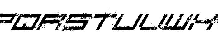Rusting Robotica Italic Font LOWERCASE