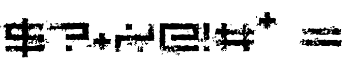 Rusting Robotica Font OTHER CHARS