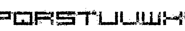 Rusting Robotica Font LOWERCASE