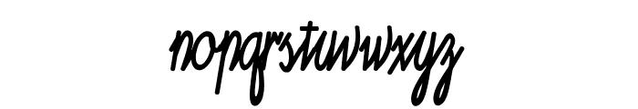 Ruth Script Font LOWERCASE