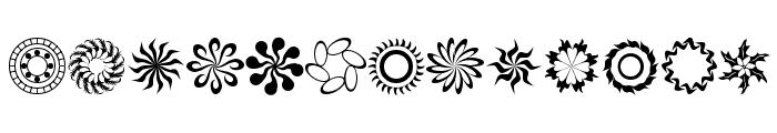 runningNcircles Font LOWERCASE