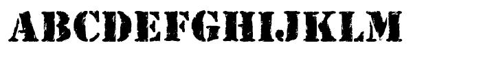 Rubber Stamp Regular Font LOWERCASE