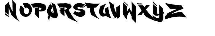 Ruckus Font LOWERCASE