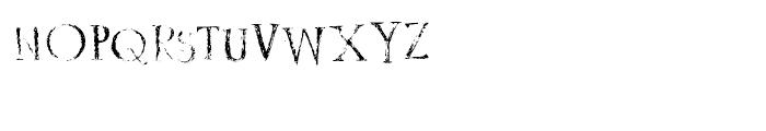 Rustic Stamp Regular Font UPPERCASE