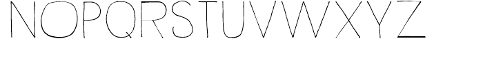 Rustick Thin Font UPPERCASE