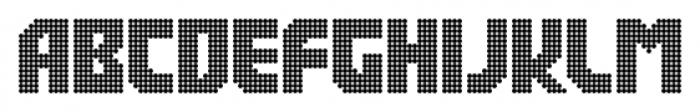 Rukyltronic Circle Font UPPERCASE