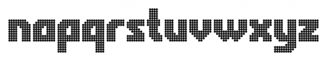 Rukyltronic Circle Font LOWERCASE