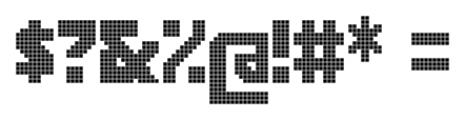 Rukyltronic Lattice Font OTHER CHARS