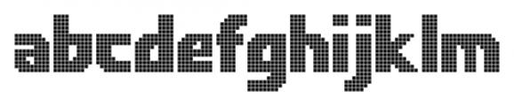Rukyltronic Lattice Font LOWERCASE