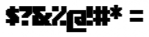 Rukyltronic Screen Font OTHER CHARS