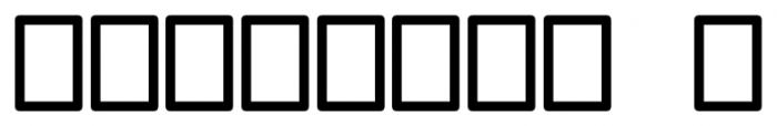 Ruman Regular Font OTHER CHARS