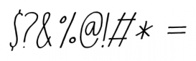 Running Hipster Italic Font OTHER CHARS