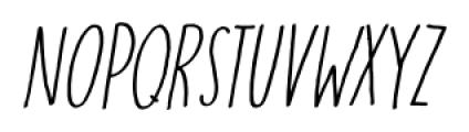 Running Hipster Italic Font UPPERCASE