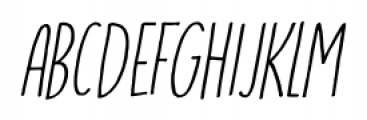 Running Hipster Italic Font LOWERCASE