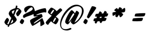 Rurable Regular Font OTHER CHARS