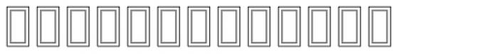 RUQAA Hollow Font UPPERCASE