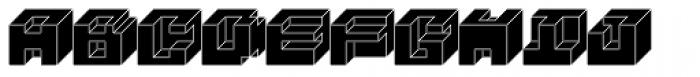 Rubic Fill Font UPPERCASE