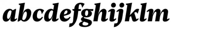 Rubis Black Italic Font LOWERCASE