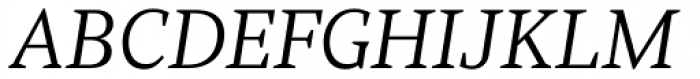 Rubis Light Italic Font UPPERCASE
