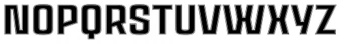 Ruda Inline Font UPPERCASE