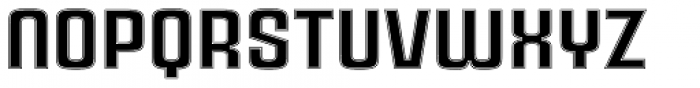 Ruda Inline Font LOWERCASE