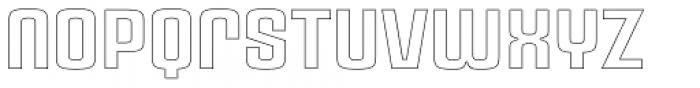 Ruda Outline Unicase Font LOWERCASE