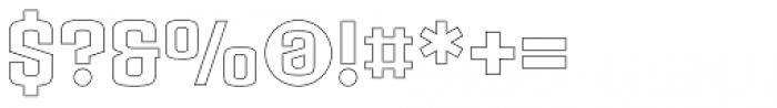 Ruda Outline Font OTHER CHARS