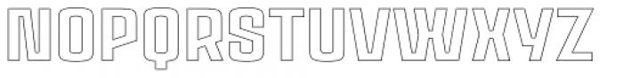 Ruda Outline Font UPPERCASE