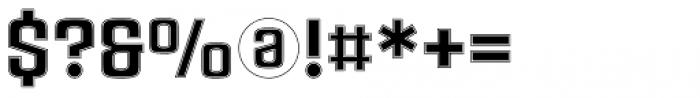 Ruda Slab Inline Unicase Font OTHER CHARS