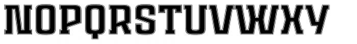 Ruda Slab Inline Unicase Font UPPERCASE
