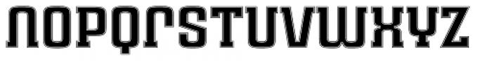 Ruda Slab Inline Unicase Font LOWERCASE