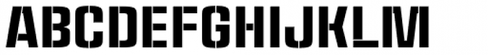 Ruda Stencil Font UPPERCASE