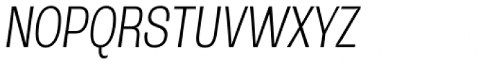 Rude Condensed Thin Italic Font UPPERCASE