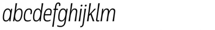 Rude Condensed Thin Italic Font LOWERCASE