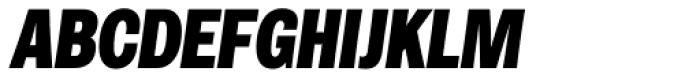 Rude ExtraCondensed Black Italic Font UPPERCASE