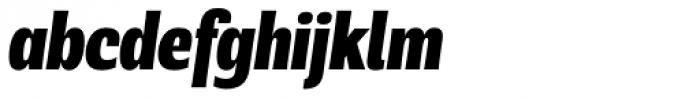Rude ExtraCondensed Black Italic Font LOWERCASE