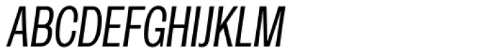 Rude ExtraCondensed Light Italic Font UPPERCASE