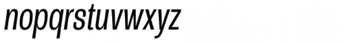 Rude ExtraCondensed Light Italic Font LOWERCASE