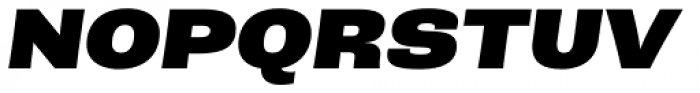 Rude ExtraWide Black Italic Font UPPERCASE