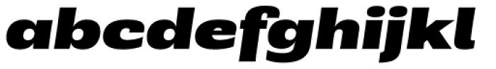 Rude ExtraWide Black Italic Font LOWERCASE