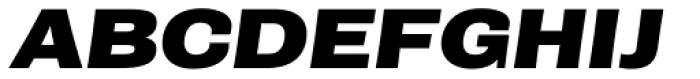Rude ExtraWide Extra Bold Italic Font UPPERCASE