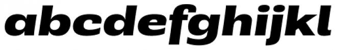 Rude ExtraWide Extra Bold Italic Font LOWERCASE