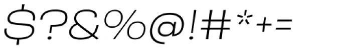 Rude ExtraWide Thin Italic Font OTHER CHARS