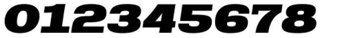 Rude Slab ExtraWide Black Italic Font OTHER CHARS