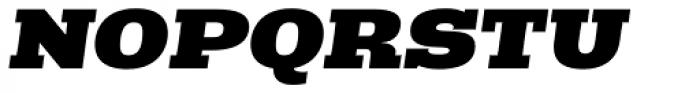 Rude Slab ExtraWide Black Italic Font UPPERCASE