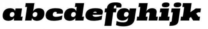 Rude Slab ExtraWide Black Italic Font LOWERCASE