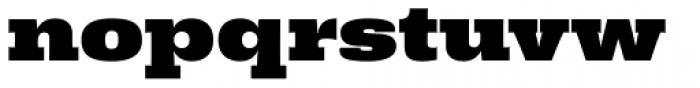 Rude Slab ExtraWide Black Font LOWERCASE