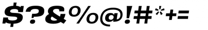 Rude Slab ExtraWide Bold Italic Font OTHER CHARS